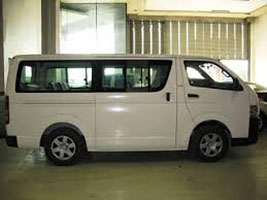 van for rent manila self drive toyota hi ace commuter