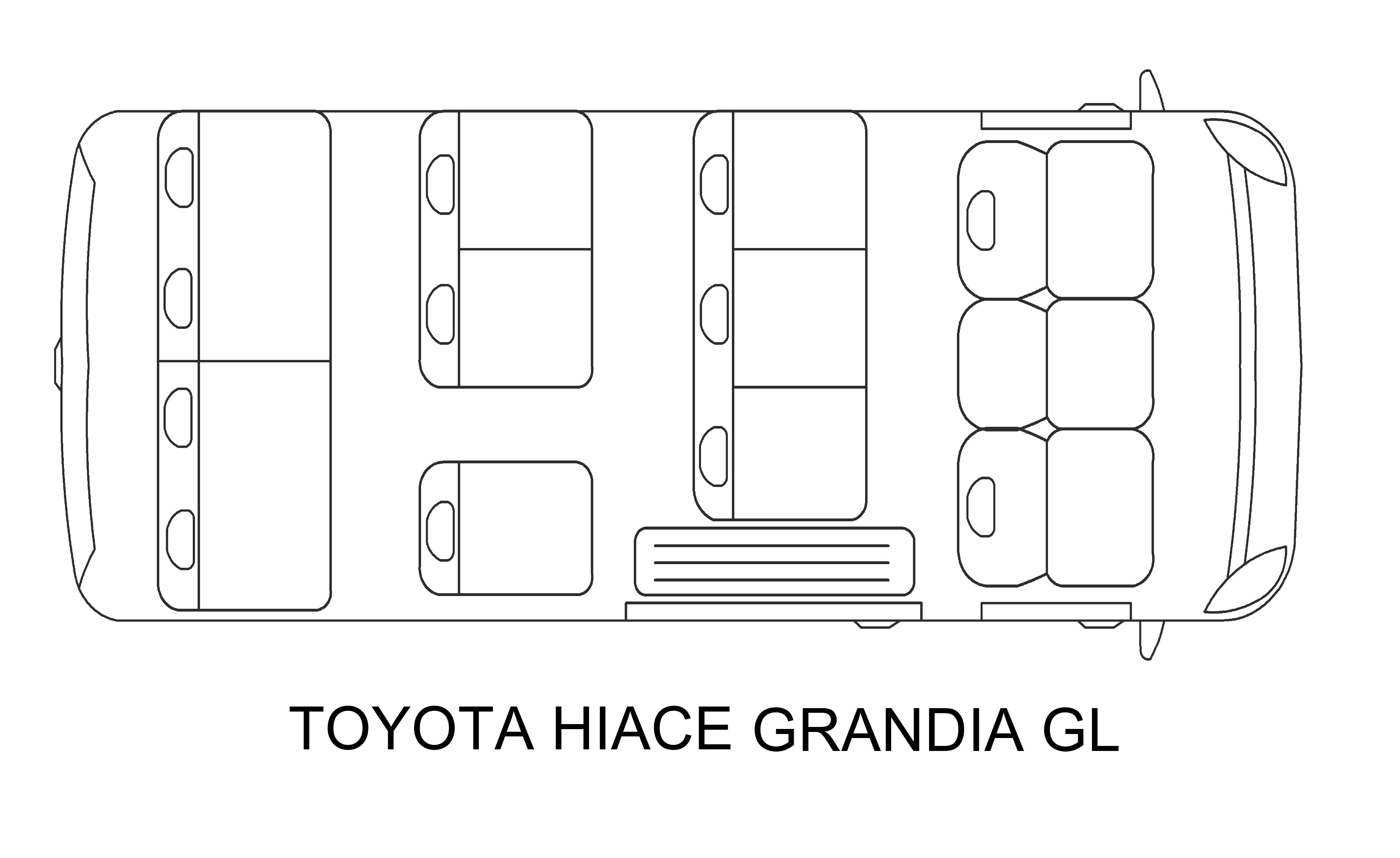 Toyota Hi Ace van for rent