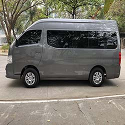 NV350 for rent left side view www.carrentmanila.com