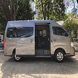 NV350 automatic van for rent passenger door open www.carrentmanila.com