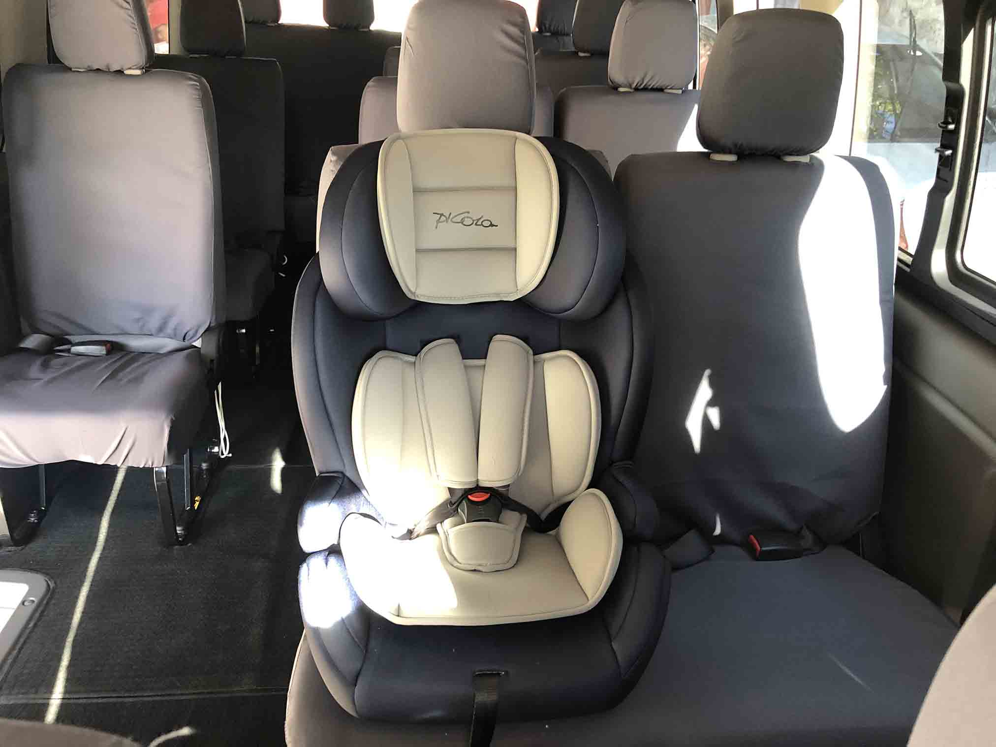 child car seat gray