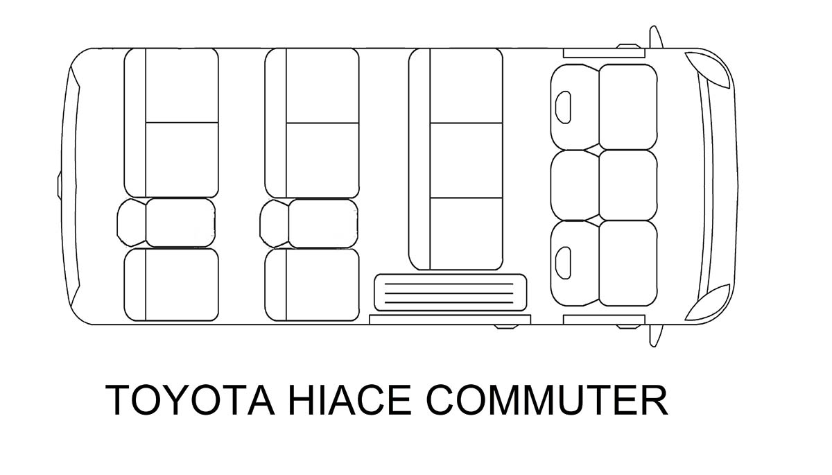 Toyota Hi Ace van for rent