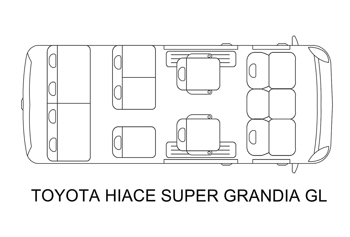 Toyota Hi Ace Super Grandia van for rent