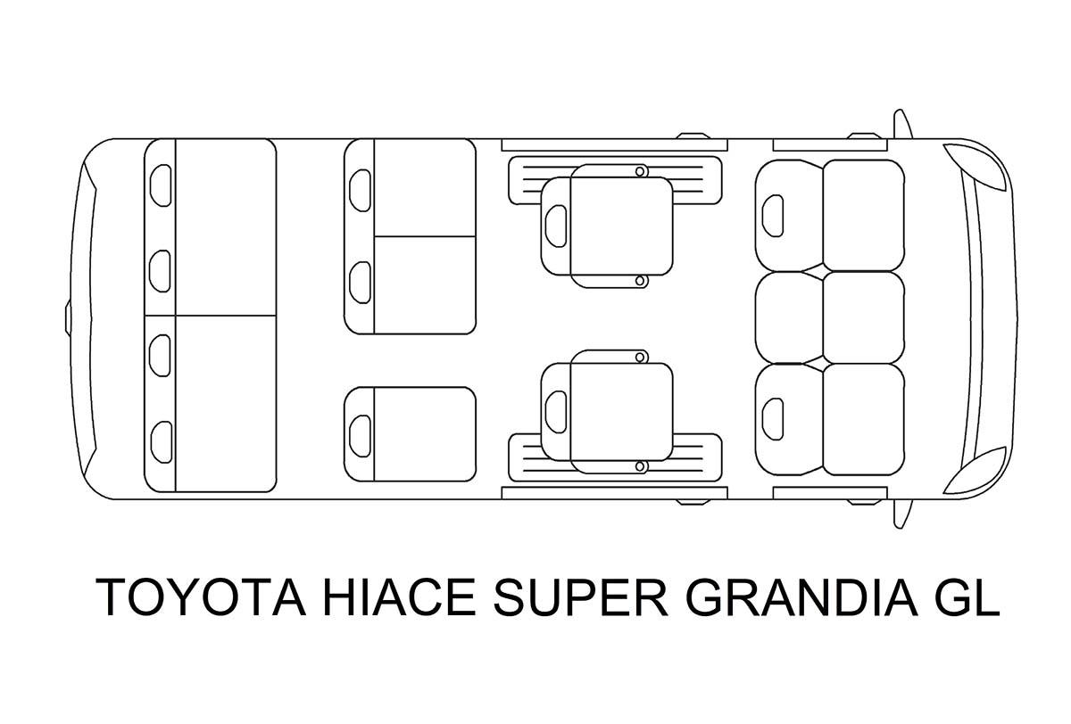 Toyota Hi Ace Super Grandia van for rent