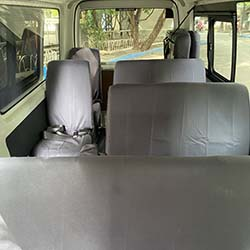 toyota hi-ace commuter 2nd and 3rd row seats.